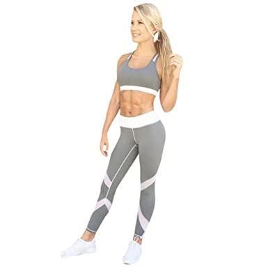 2ea7a79afd89a Amazon.com  Napoo Clearance Women s Patchwork Sports Yoga Workout Gym  Fitness Leggings Exercise Athletic Pants  Clothing