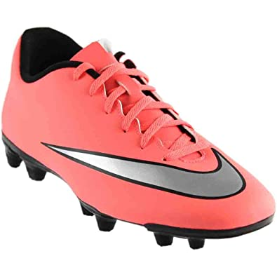 Nike Men s Mercurial Vortex II Firm-Ground Soccer Cleat Mango Metallic  Silver Size 6.5 af9d68dbfcf2