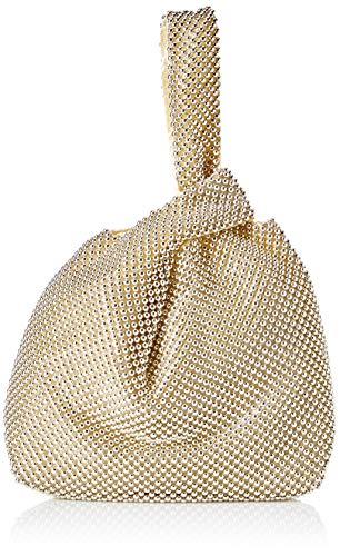 Jessica McClintock Logan Ball Mesh Evening Pouch, Lt Gold (Mesh Clutch Sequin)