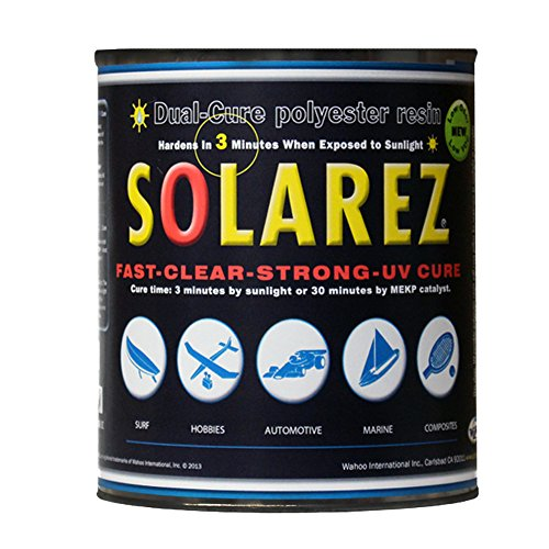 Laminator Usa - Solarez UV Duel Cure, Low-VOC Clear Polyester Resin (Gallon) No Waiting! for Custom Woodworking, Surfboard Building, Clear Laminating Resin, Eco-Friendly ~ Made in The USA