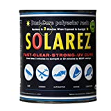 Solarez UV Duel Cure, Low-VOC Clear Polyester Resin (Gallon) ~ Clear Laminating Resin - No Waiting! for Custom Woodworking, Surfboards, Marine, Auto, Hobby ~ Eco-Friendly ~ Made in The USA