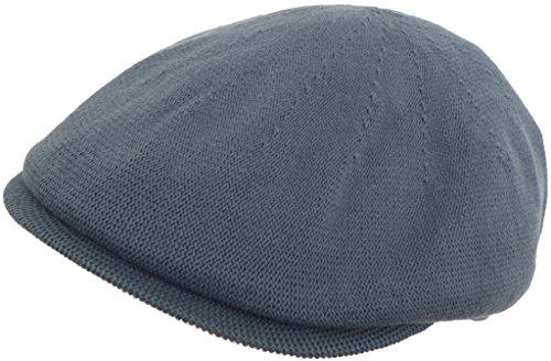 100% Cotton Knit Ivy Flat Hat (Steel Blue / Medium)