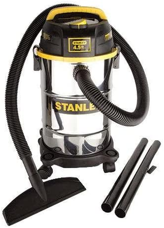 Stanley 5 Gallon Stainless Wet Dry Vac 4.5 Peak HP