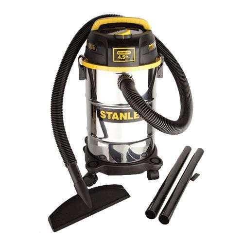 Stanley 5 Gallon Stainless Wet/Dry Vac 4.5 Peak HP