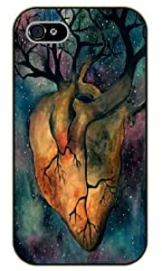 iPhone 5 / 5s Love tree, heart - Black plastic case / Inspirational and motivational life quotes / SURELOCK AUTHENTIC