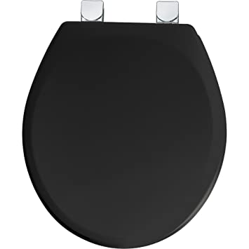 Mayfair 49CPEC 047 Molded Wood Toilet Seat with Chrome Easy Clean and  Change Hinges  RoundMayfair 49CPEC 047 Molded Wood Toilet Seat with Chrome Easy Clean  . Wooden Black Toilet Seat. Home Design Ideas