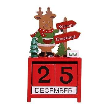 Alte Weihnachtskalender.Diuspeed Weihnachtskalender Aus Holz Kalender Zeichentrick Puppe