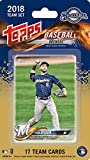 2018 Topps Baseball Factory Milwaukee Brewers Team Set of 17 Cards which includes: Ryan Braun(#MB-1), Chase Anderson(#MB-2), Manny Pina(#MB-3), Orlando Arcia(#MB-4), Lewis Brinson(#MB-5), Jonathan Villar(#MB-6), Keon Broxton(#MB-7), Brett Phillips(#MB-8), Zach Davies(#MB-9), Josh Hader(#MB-10), Domingo Santana(#MB-11), Eric Sogard(#MB-12), Travis Shaw(#MB-13), Corey Knebel(#MB-14), Jimmy Nelson(#MB-15), Eric Thames(#MB-16), Hernan Perez(#MB-17)