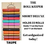 The Roll Keeper for Diamond Painting-Hanging Storage-Craft Vinyl Storage-Taupe Color-Holds 22 Rolls each-651-Glitter-Holographic-Stabilizer-Deco Mesh-Htv-Hanging Craft Storage