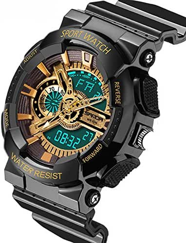 Water-proof Digital-analog Kids Outdoor LED Shock-proof Sport Watches For Ages 7-15 Years Old Boys Girls