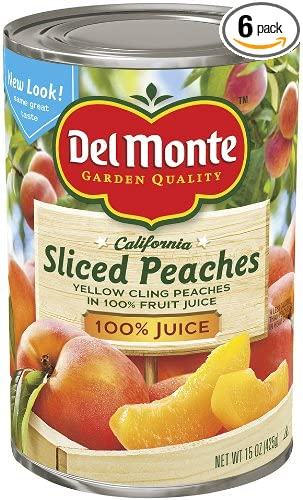 Amazon Del Monte Sliced Peaches Yellow Cling Peaches In 100