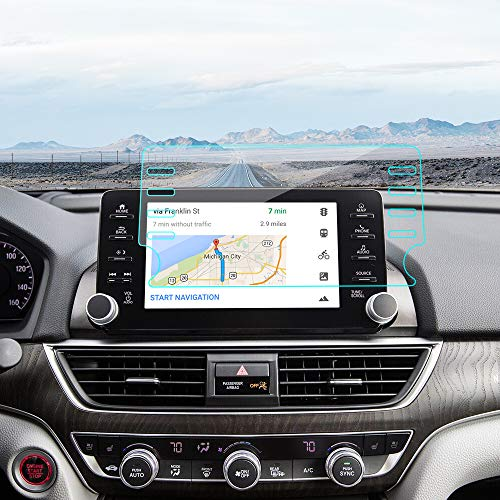 J&D Compatible for Honda Accord 2018/Honda Accord 2019 Car Navigation Screen Protector, 1-Pack Premium HD Clear Film Shield Honda Accord 2018 2019 Crystal Clear Screen Protector for EX EX-L Touring