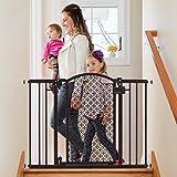 Summer Modern Home Decorative Walk Thru Baby Gate, 28-42 Inch Wide Pressure Mount