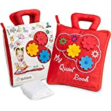 deMoca Toddlers Activity Quiet Book – Best Montessori Educational Busy Book for Toddlers – Early Learning How to Basic Life Skills, Soft Travel Toy Activities for Boys & Girls + Zipper Bag + eBook