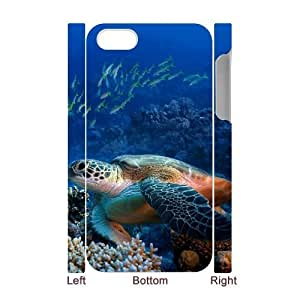 Sea Turtle DIY 3D Cover Case for Iphone 4,4S,personalized phone case ygtg565803