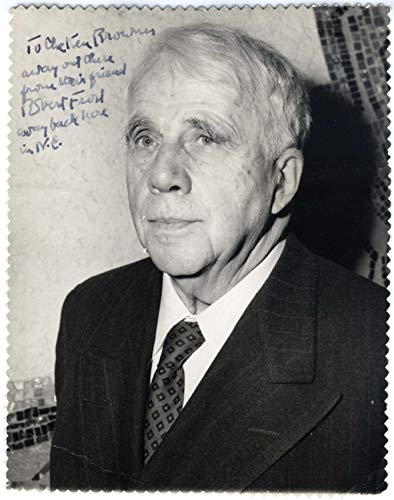 Robert Frost POET autograph, signed vintage photo