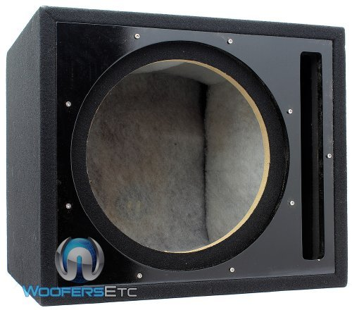 Absolute USA PSEB12BK Single 12-Inch Ported Subwoofer Enclosure with Black High Gloss Face Board and Black Carpet (Single Ported Subwoofer Enclosure)
