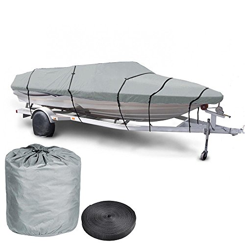 - Yescom 20' 21' 22' 600d Waterproof Fish/ski Boat Cover V-Hull Trailerable Beam 100