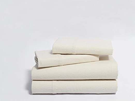 Full//Queen Flannel Duvet Cover Organics and More Naturesoft Organic Cotton 5 oz