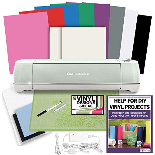 cricut-explore-air-mint-2-rainbow-vinyl-bundle-transfer-paper-w-vinyl-designs