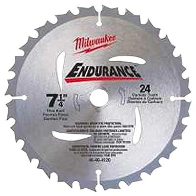 3.Milwaukee Circular Saw Blade 7-1/4 24 CBD T (48-40-4123)