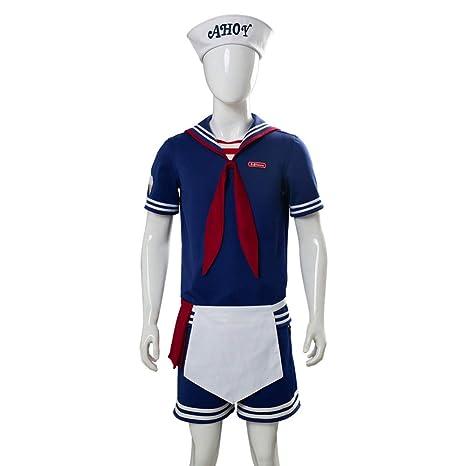 Godmoy Robin/Steve Scoops Ahoy Disfraz de Halloween para Hombres Mujeres Niños, Stranger Things Hallow Disfraz de Cosplay
