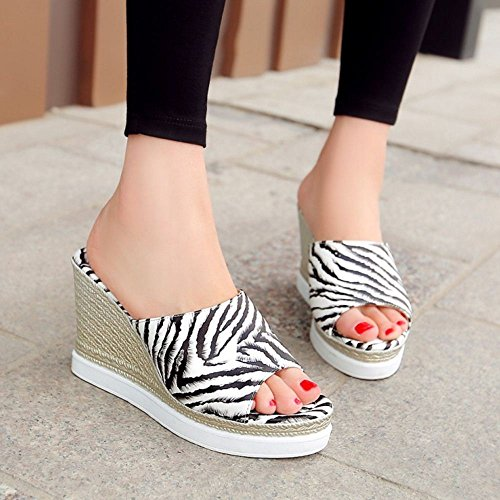 Femmes VulusValas Bout White Ouver Chaussures Sandales Sdx7n4T6