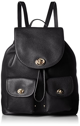 COACH Women's Turnlock Tie Rucksack LI/Black Backpack