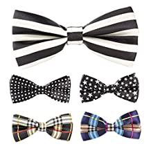 Multicolor Men Boy Pet Cat Dog Tuxedo Adjustable Neck Bowtie Bow Tie Collar 5pcs Mixed Lot Set #9
