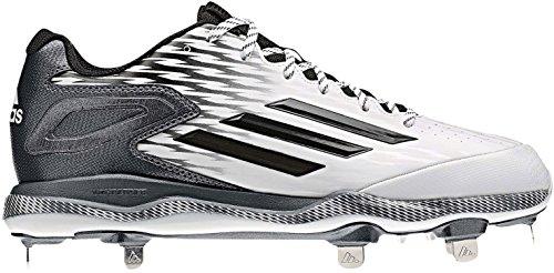 Adidas Prestanda Mens Poweralley 3 Baseball Sko Vit / Svart / Kol Metalliskt