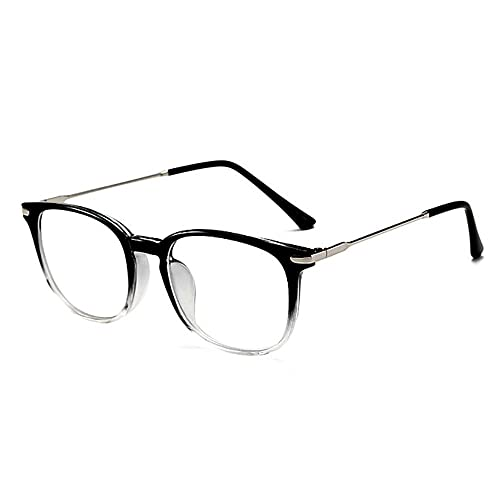 Zero Strength Lens Computer Glasses Clear Front Metal