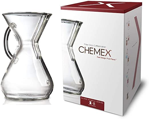 Chemex Glass Handle, Pour-over Coffeemaker, 8-Cup - Exclusive Packaging