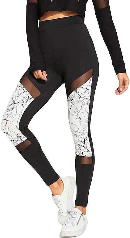 Yoga y Ejercicio Mujeres Deporte Fitness Gym Pantalon El/ásticos Running Pilates RISTHY Mujer Pantalones Largos Deportivos Mallas Leggings para Running