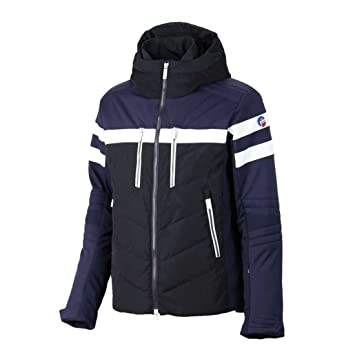 Veste de ski femme bleu blanc rouge