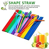 LetGoShop Colorful Straws Extra Long Flexible Bendy Disposable Plastic Drinking Straws, Pack of 100 Pieces, 10 Inches