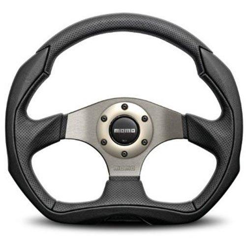 Momo Racing Steering Wheels - Momo EAG35BK0S Steering Wheel Leather