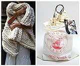 Loopy Mango DIY Knit Kit Nantucket Throw 28'' x 40'' (70cm x 100cm) (Charcoal)