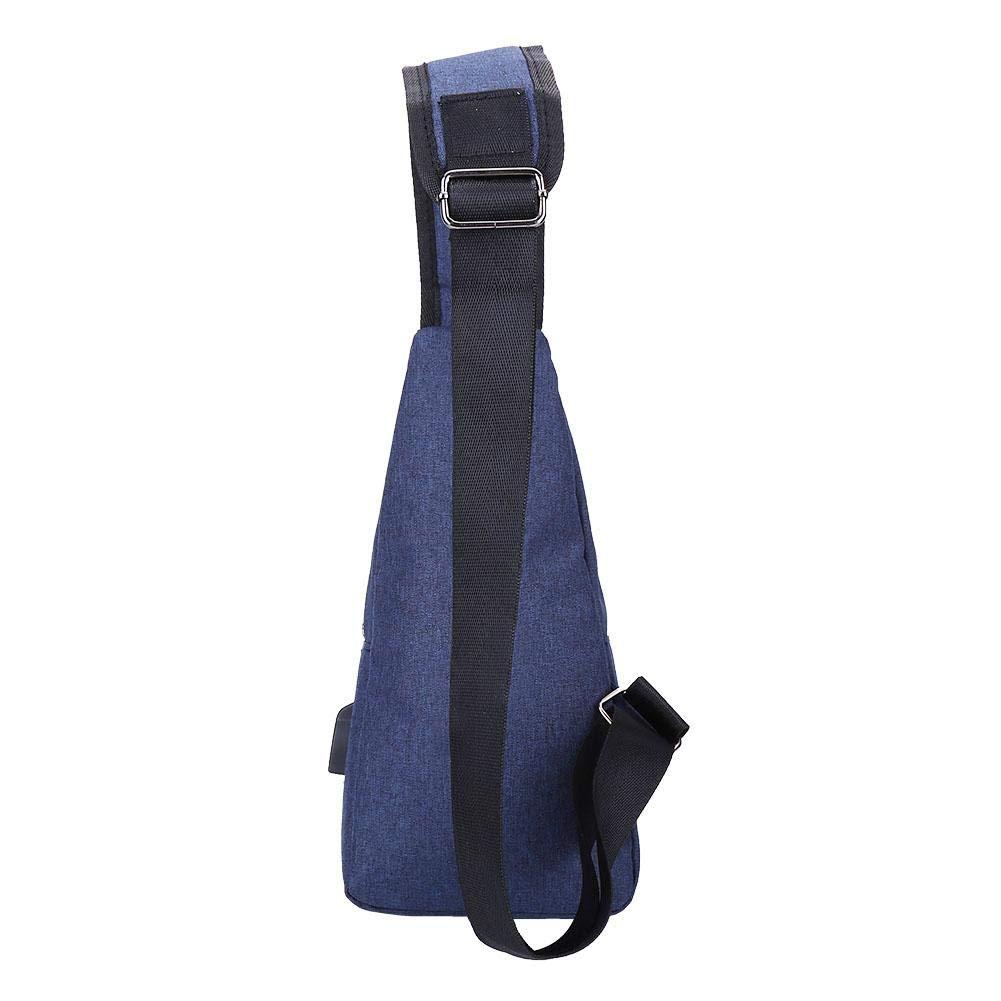 Alomejor Single Shoulder Bag 3 Colors Men Canvas Travel Chest Pack Pouch Sling Bag Shoulder Backpack Cross Body Purse for Hiking Camping