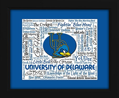 University Of Delaware 16X20 Art Piece   Beautifully Matted And Framed Behind Glass