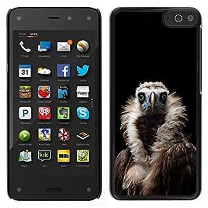 EJOY---Cubierta de la caja de protección para la piel dura ** Amazon Fire Phone ** --ave condor buitre negro naturaleza pluma