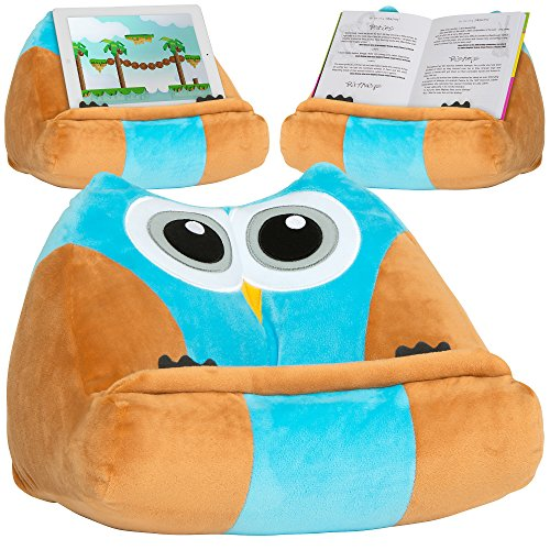 (Kids iPad Holder & Tablet Stand. Hands Free Children's Book Pillow & Reading Accessories for Bed, Travel or Study. Great Gift for Birthdays)