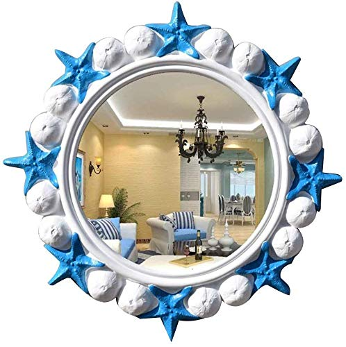 GRJ Household Items& Bathroom Mirrors Wall Mounted, HD European Mediterranean Style Beauty -