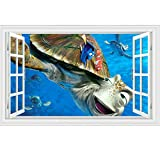 nemo window decals - Fangeplus(R)DIY Removable Cartoon Finding Nemo 3D False Window Art Mural Vinyl Waterproof Wall Stickers Kids Room Decor Nursery Decal Sticker Wallpaper 23.6''x35.4''