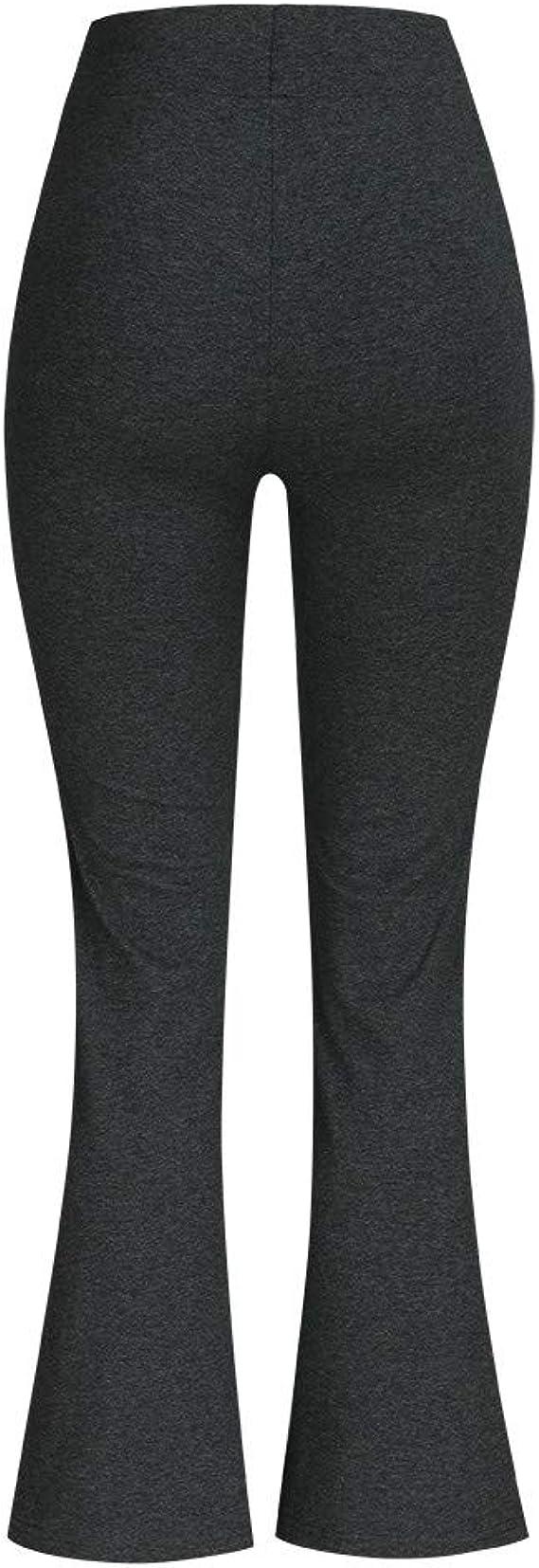 Trisee Pantalones Acampanados para Mujer, Pantalón Deportivo Negro ...