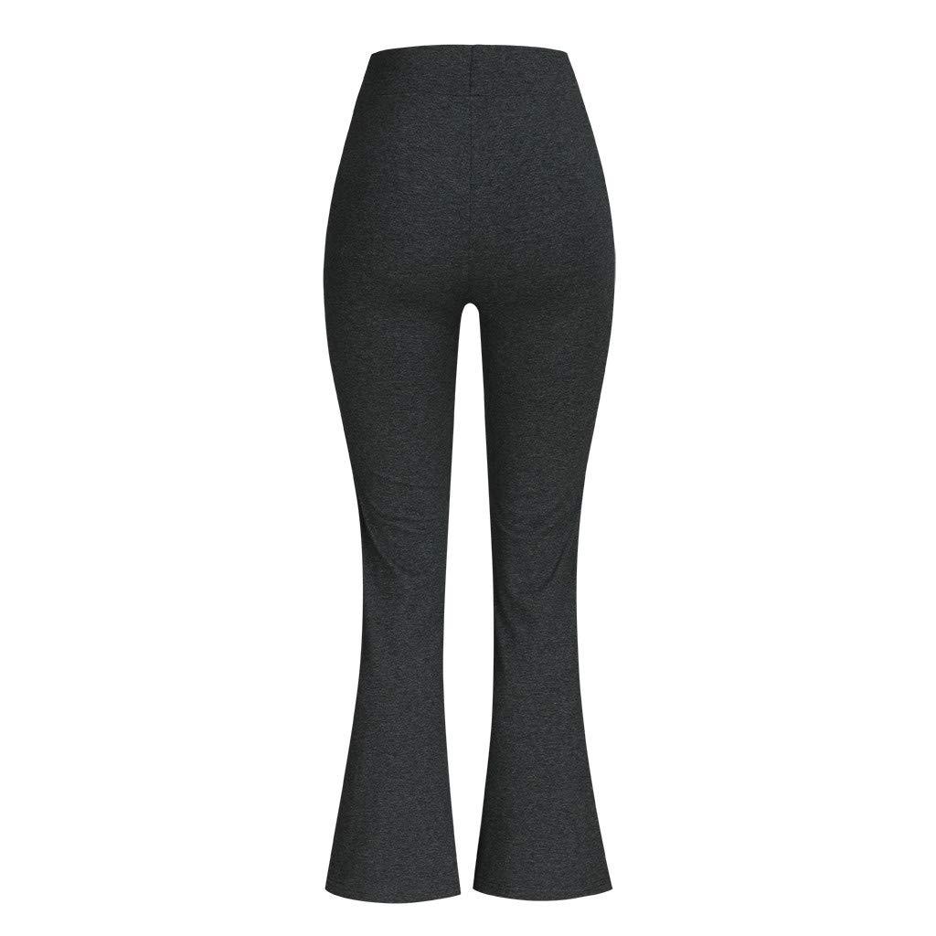 Pantalones Yoga Tiro Regular Campana Pantalones de Yoga ...