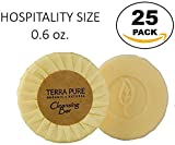 Terra Pure Bar Soap, Travel Size Hotel Amenities, 0.6 oz (Pack of 25)