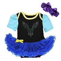Baby Anna Princess Black Royal Blue Body Tutu Disfraz Grande Negro