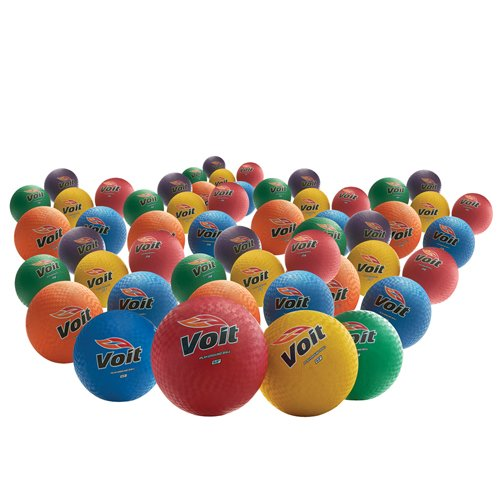 Image of 8.5 in. Rainbow Playground Balls (48-Pack) Balls