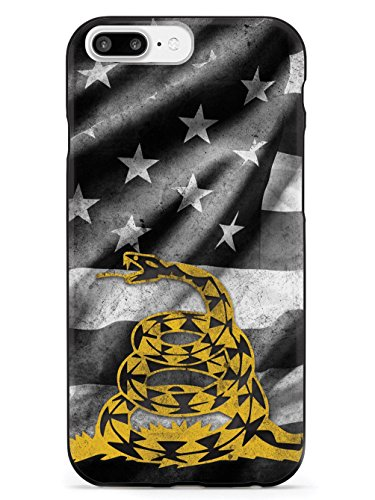 B/w Iphone (Inspired Cases Don't Tread on Me - B&W Flag - Rattlesnake Design Case - Apple iPhone 8 Plus)