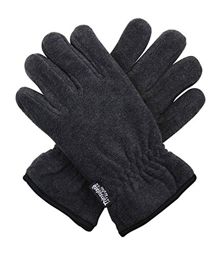 Dark Grey 40g Thermal Insulation Polar Fleece Winter Gloves - One Size Fits All